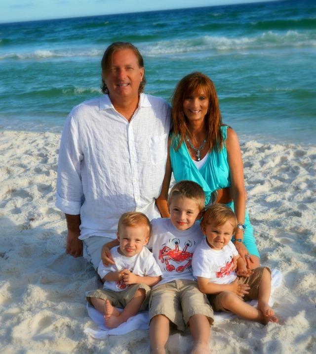 (Scott & Kari with grandkids John Scott, William, & Joseph [left to right])